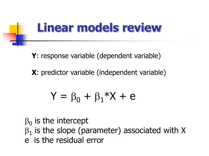 Linear models review