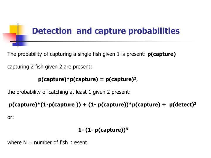 Detection  and capture probabilities