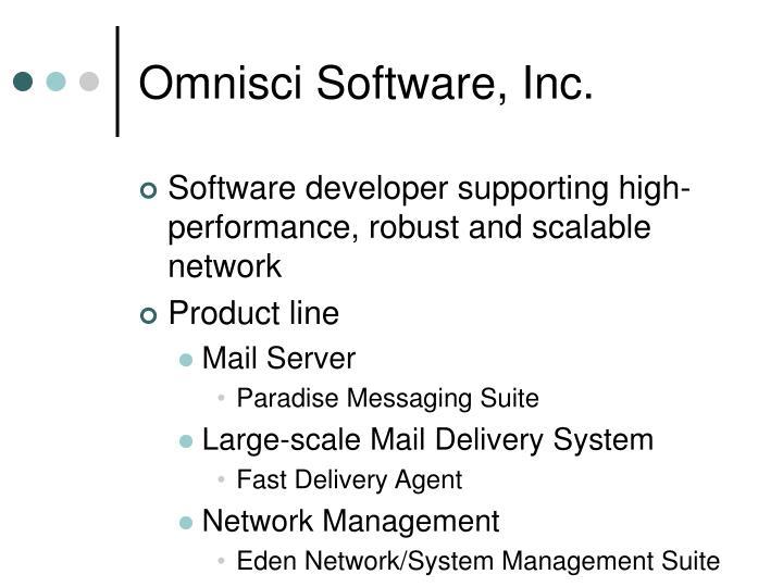 Omnisci Software, Inc.