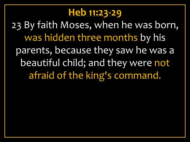 Heb 11:23-29