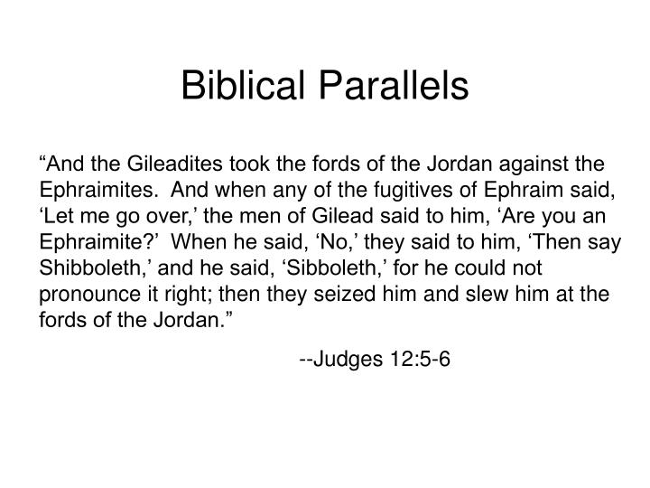 Biblical Parallels
