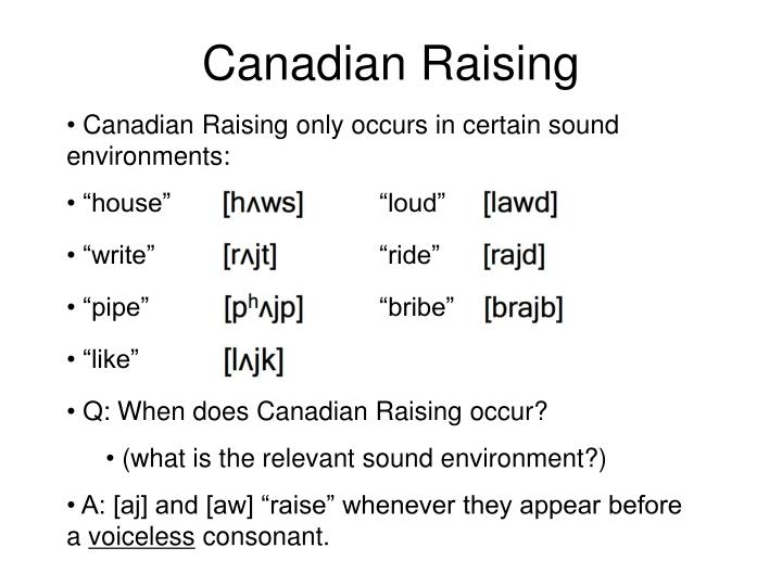 Canadian Raising