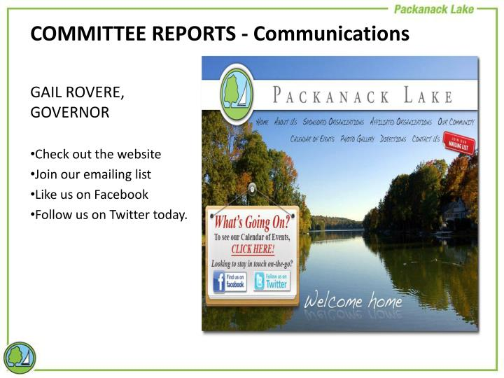 COMMITTEE REPORTS - Communications