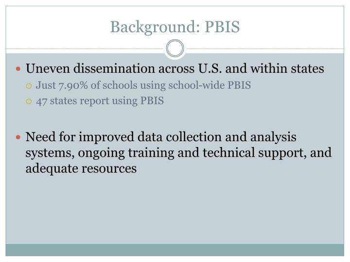 Background: PBIS
