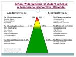 school wide systems for student success a response to intervention rti model