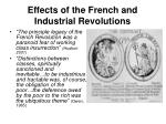 effects of the french and industrial revolutions