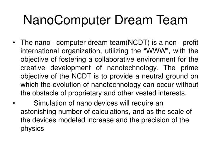 NanoComputer Dream Team