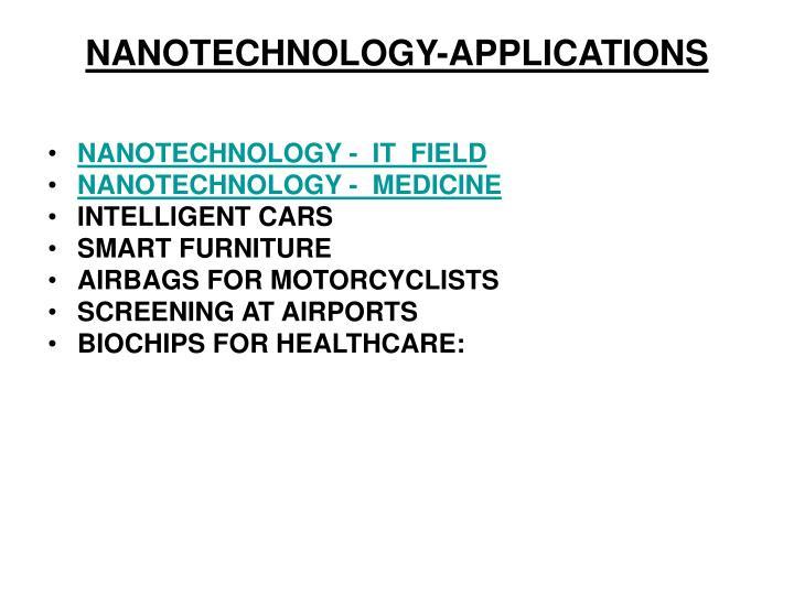 NANOTECHNOLOGY-APPLICATIONS