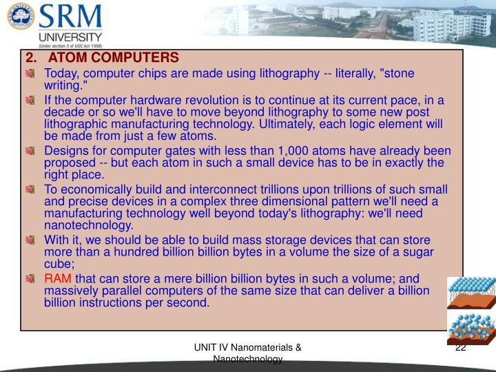 2.   ATOM COMPUTERS