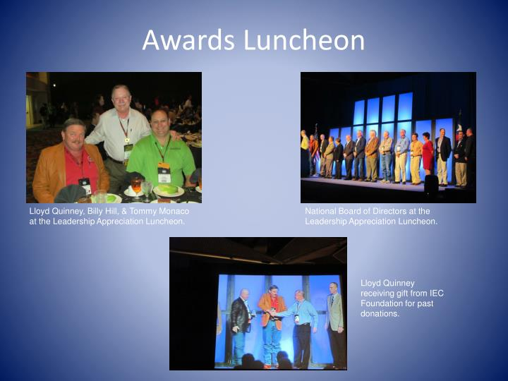 Awards Luncheon