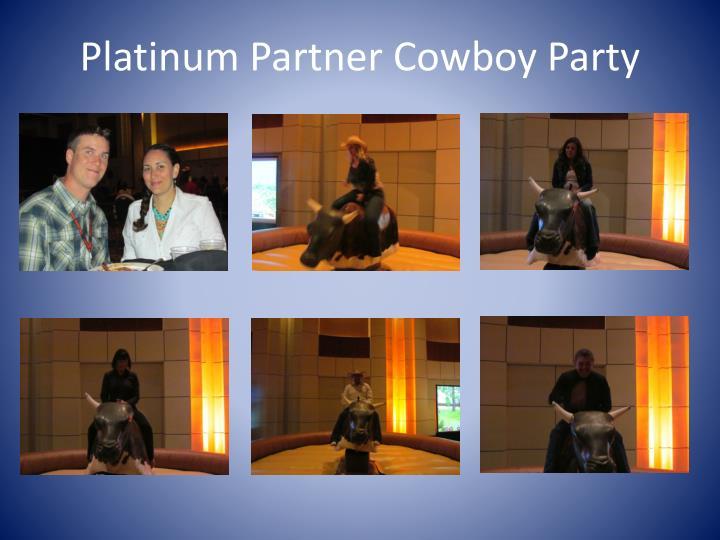 Platinum Partner Cowboy Party