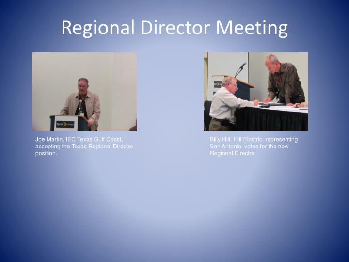 Regional Director Meeting
