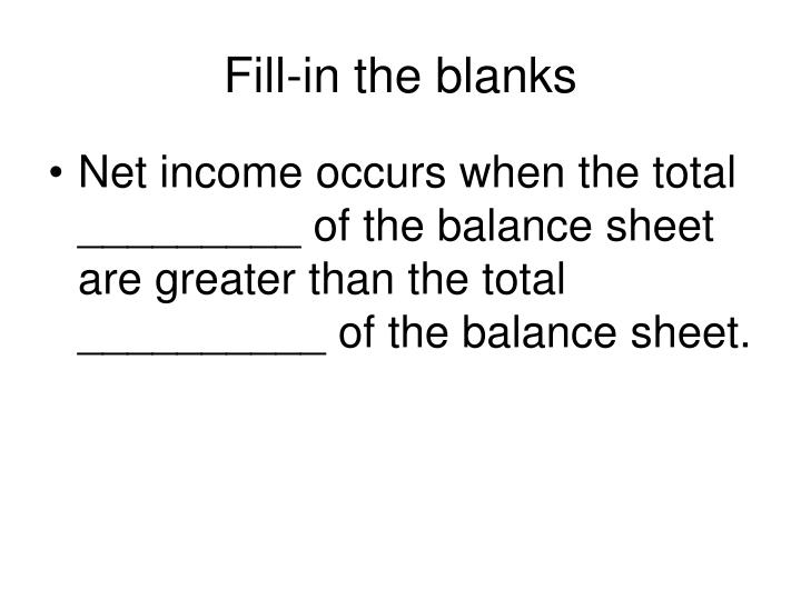Fill-in the blanks