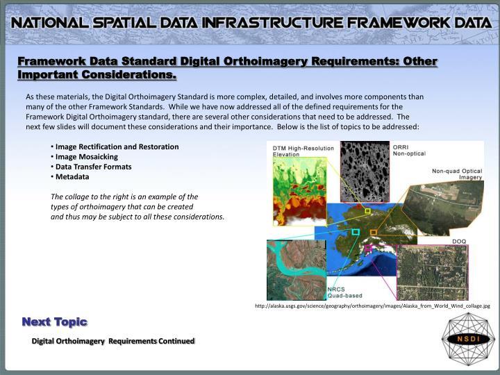 Framework Data Standard
