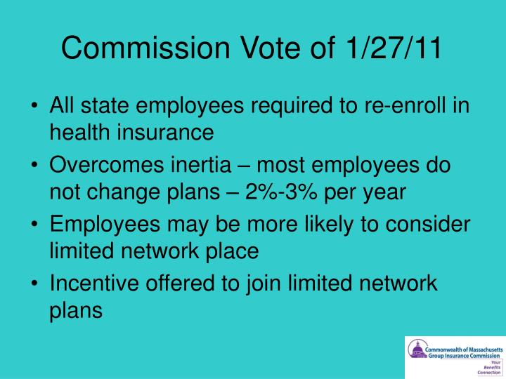 Commission Vote of 1/27/11