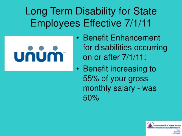 Long Term Disability for State Employees Effective 7/1/11