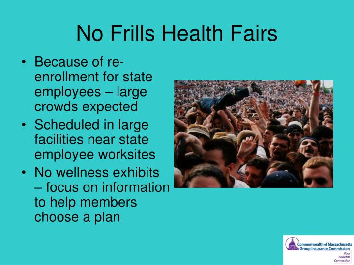 No Frills Health Fairs