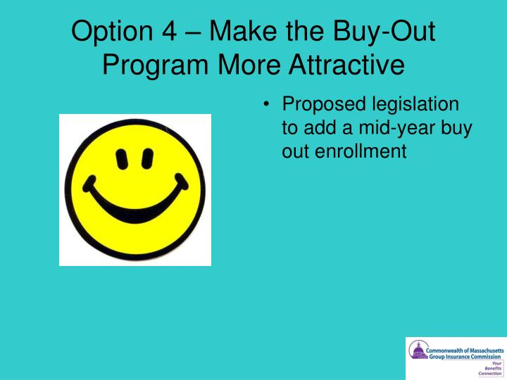 Option 4 – Make the Buy-Out Program More Attractive