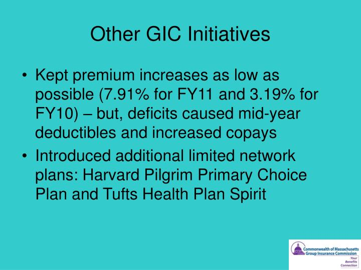 Other GIC Initiatives
