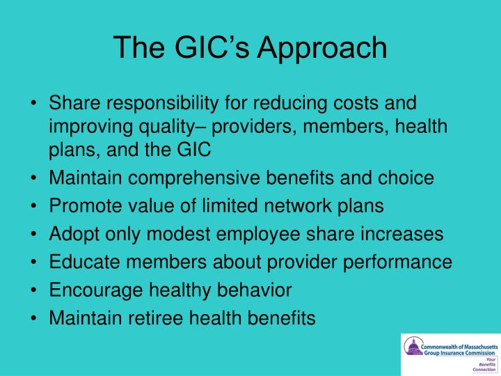 The GIC's Approach