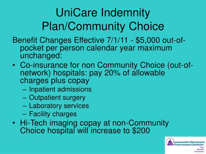 UniCare Indemnity Plan/Community Choice