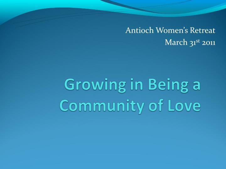 Antioch Women's Retreat