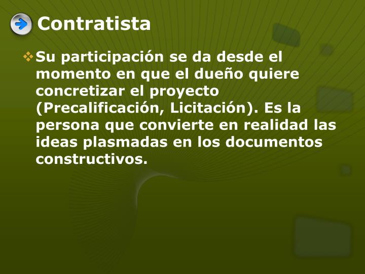 Contratista