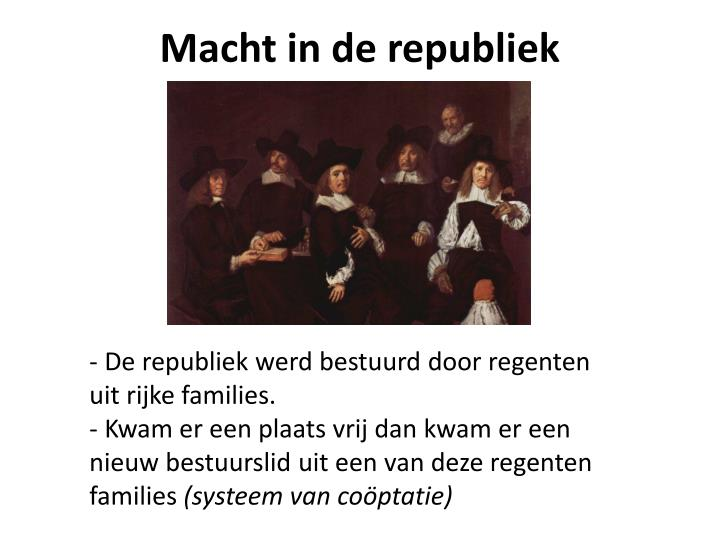 Macht in de republiek