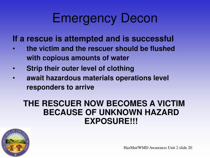 Emergency Decon