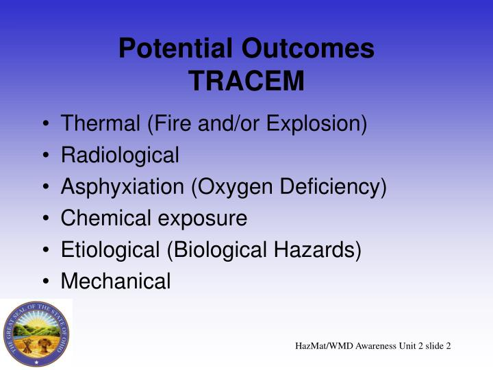 Potential outcomes tracem
