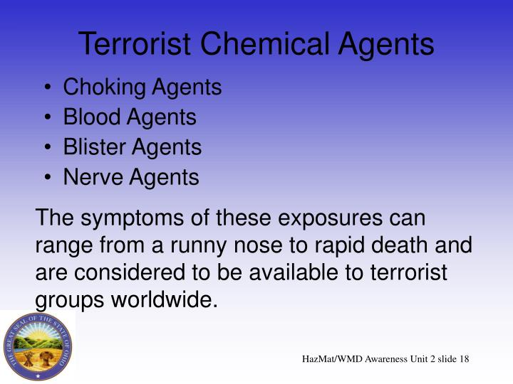 Terrorist Chemical Agents
