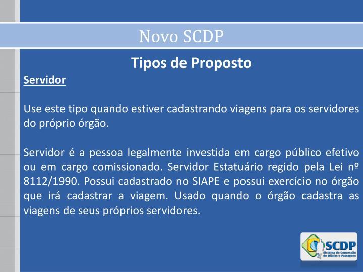 Novo SCDP