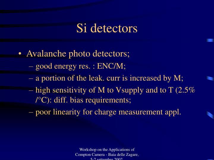 Si detectors