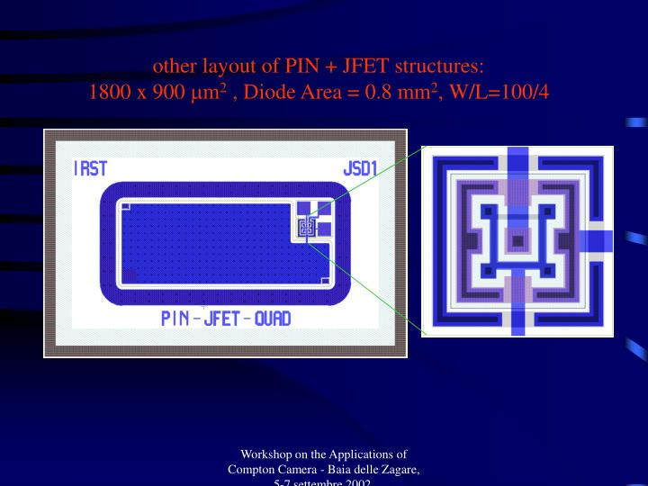 other layout of PIN + JFET structures: