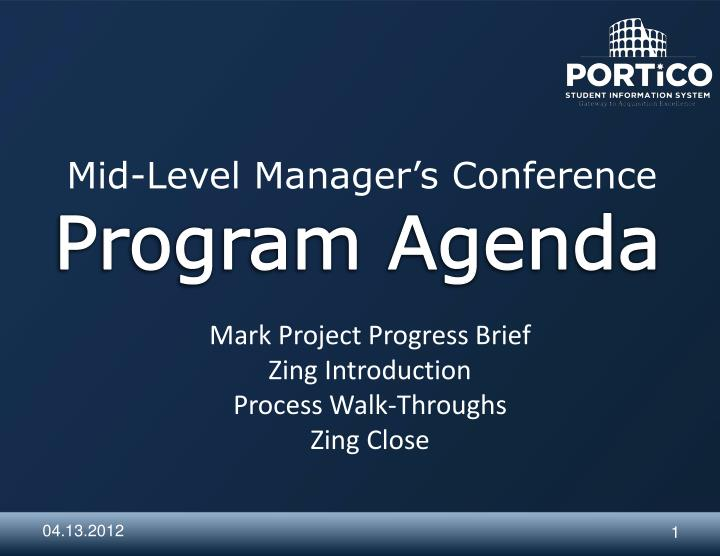 Mid level manager s conference