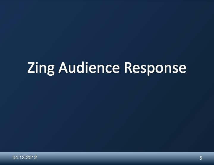 Zing Audience Response