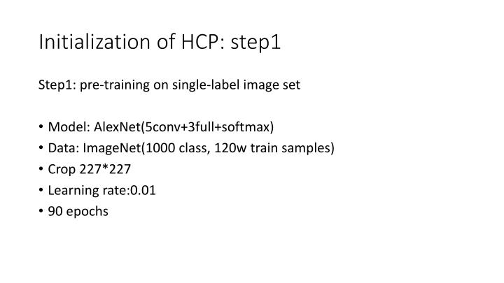Initialization of HCP: step1