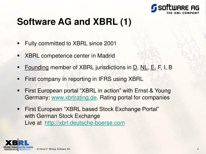 Software AG and XBRL (1)