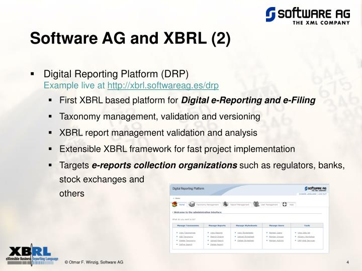 Software AG and XBRL (2)
