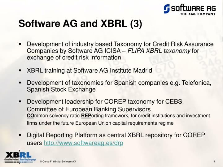 Software AG and XBRL (3)