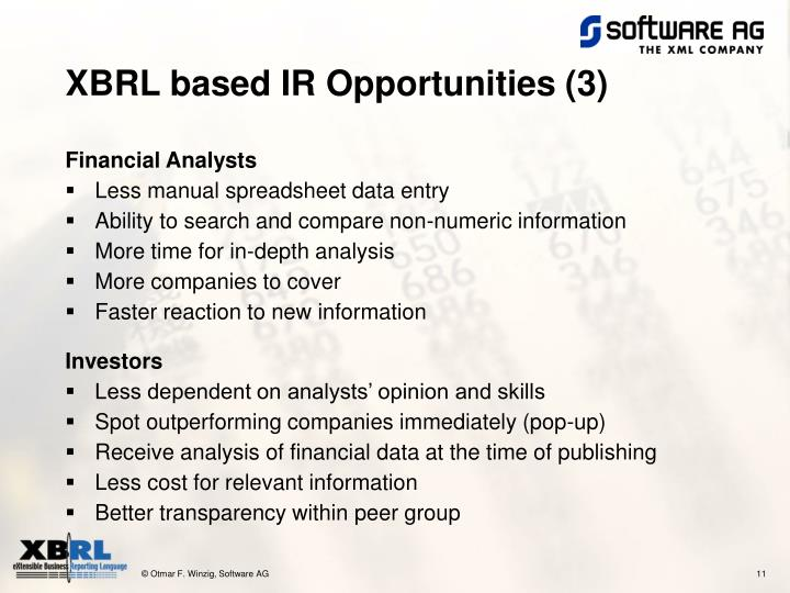 XBRL based IR Opportunities (3)