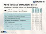 xbrl initiative of deutsche b rse1