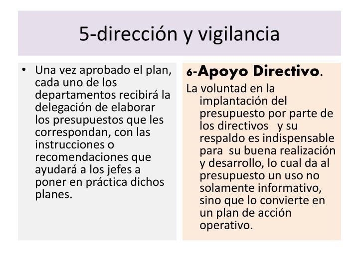 5-dirección y vigilancia