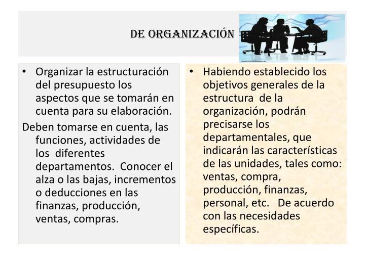 De organización