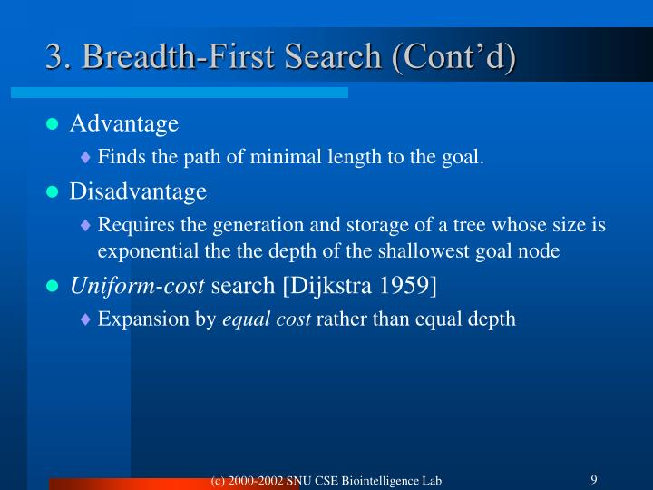 3. Breadth-First Search (Cont'd)