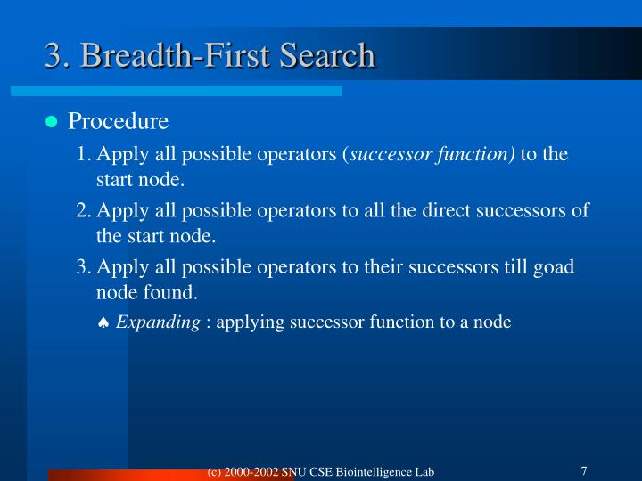 3. Breadth-First Search