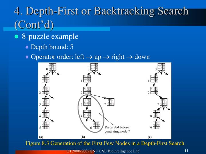 4. Depth-First or Backtracking Search (Cont'd)