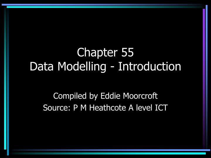 chapter 55 data modelling introduction