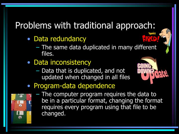 Problems with traditional approach: