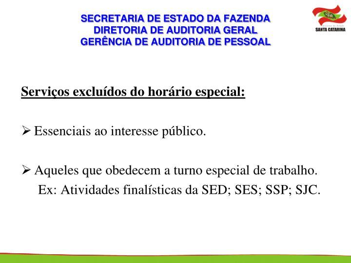 SECRETARIA DE ESTADO DA FAZENDA